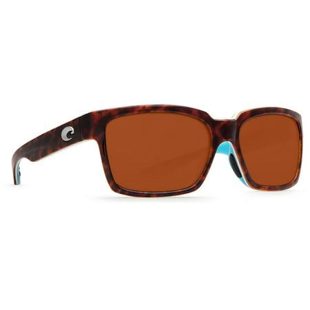 Costa Del Mar Playa Light Tort/White/Aqua Square (Costa Playa Sunglasses)