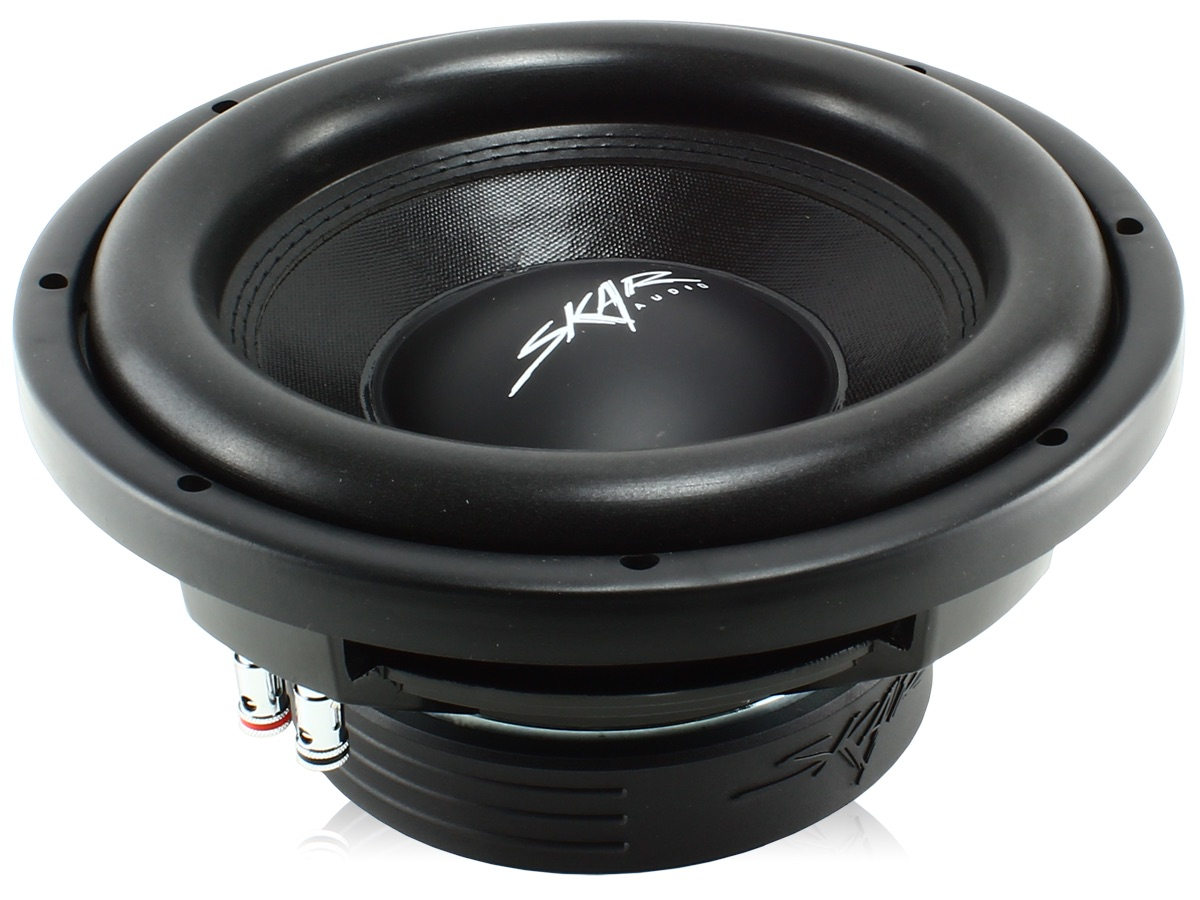 "Skar Audio VD-10 D4 10"" Dual 4 Ohm 800 Watt Max Power Shallow Mount Car Subwoofer"