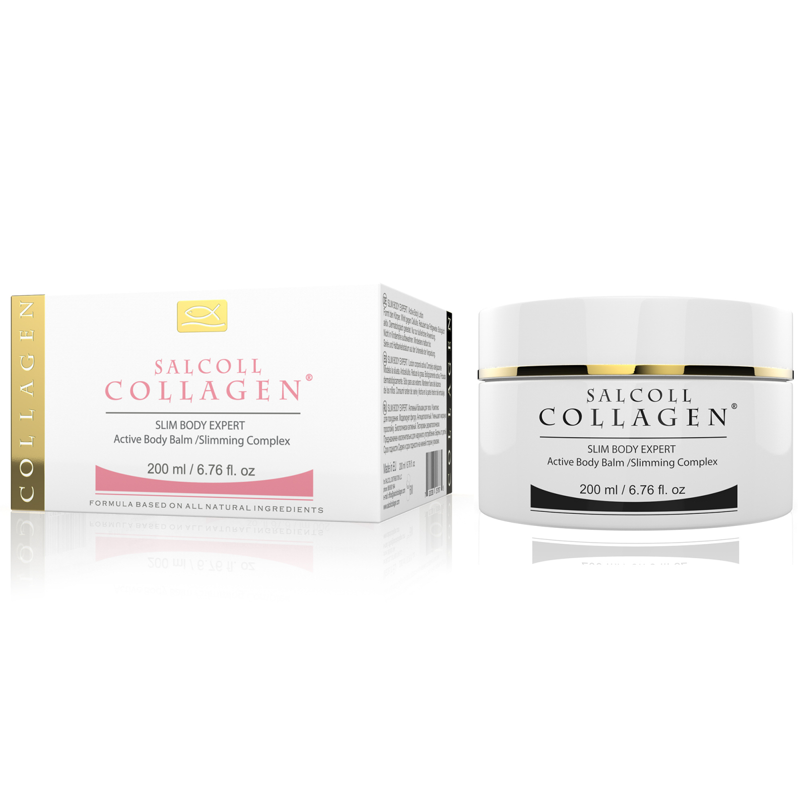 SALCOLL COLLAGEN Cellulite & Fat Reducer Cream - Anti-Cellulite Cream to Shape Body Contours - Tightens Saggy Skin, Helps Burn Fat, Restores Natural Skin Texture Post Pregnancy or Weight Loss - 200 ml