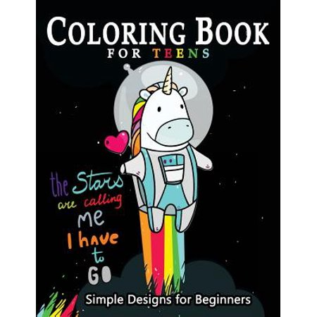 Coloring Book for Teens Simple Designs for Beginners : Many Cute and Easy Patterns to - Cute And Easy Nail Designs For Halloween