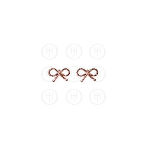 Doma Jewellery MAS06627 Sterling Silver -Rose Colour Plated Bow Stud Earrings -ST-107
