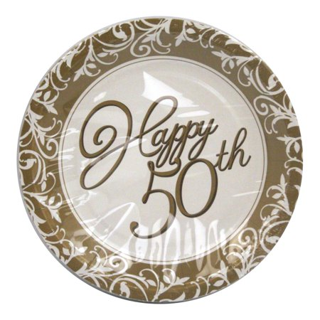 50th Anniversary Cake Plates - - 50th Anniversary Paper Products
