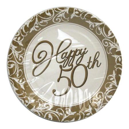 50th Anniversary Cake Plates - 7\