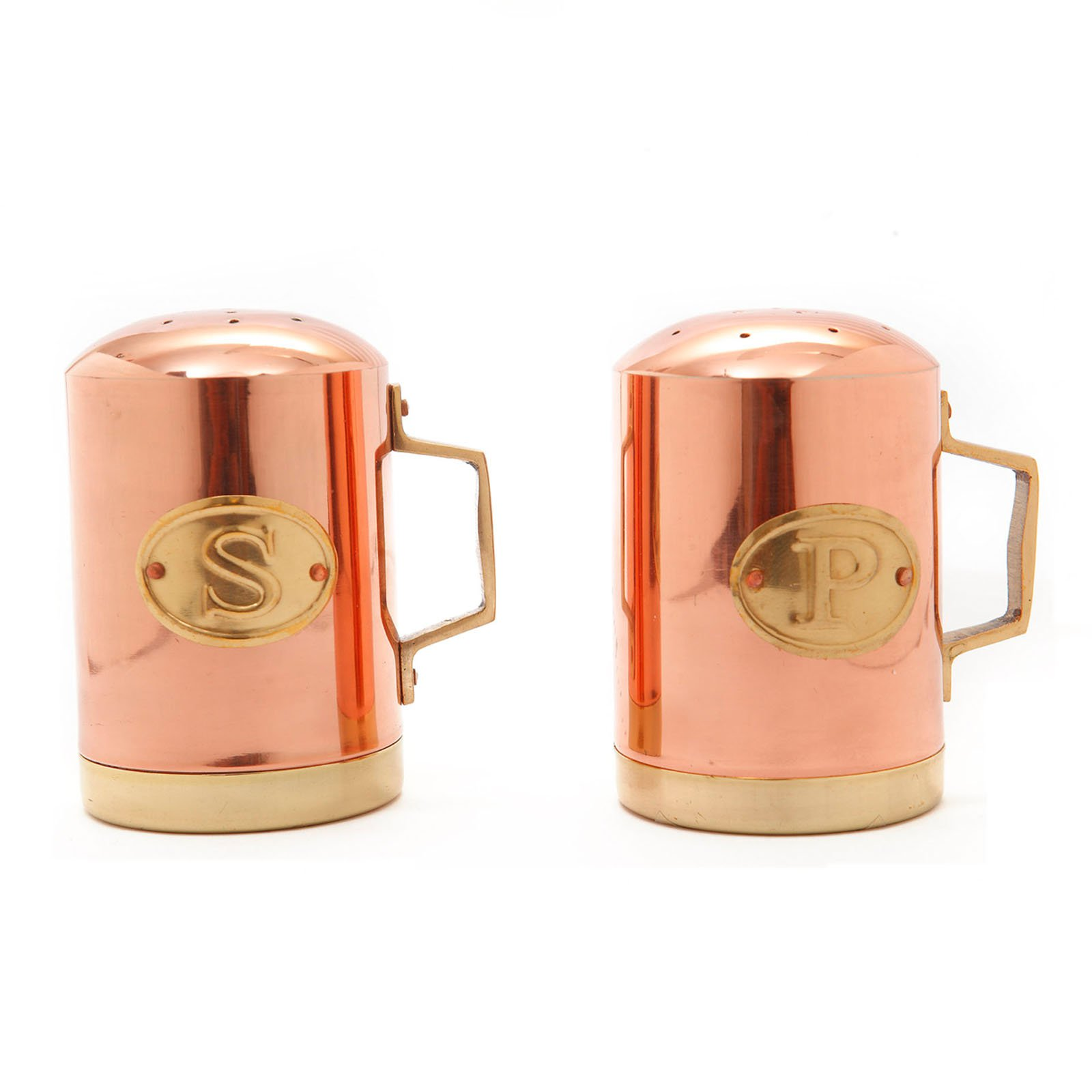 Old Dutch 4.5H in. Decor Copper Stovetop Salt and Pepper Set by Old Dutch International