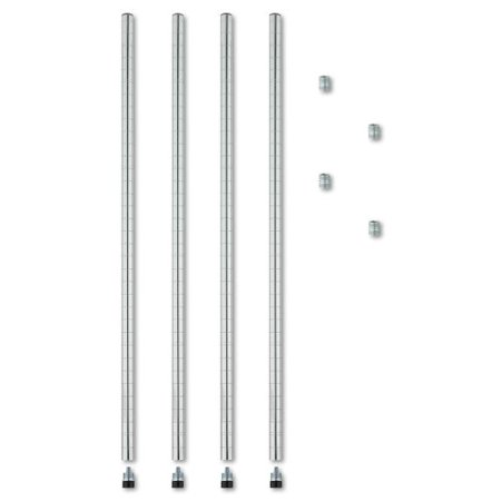 Alera Stackable 4-Pack Posts for Wire Shelving, 36-Inch, - Alexa Stackable