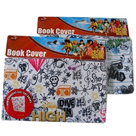 HIGH School MUSICAL Stretchable Fabric Book Cover WHITE