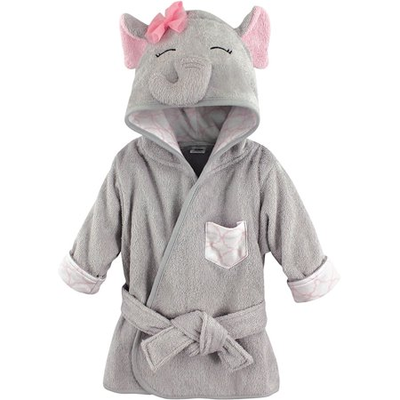 Hudson Baby Woven Terry Animal Bathrobe, Pretty Elephant - Slytherin Bathrobe