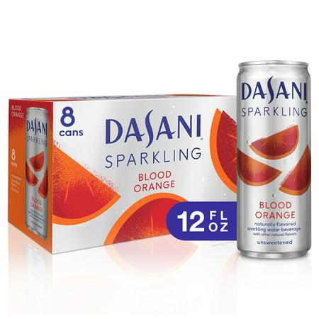 (3 Pack) Dasani Sparkling Water, Blood Orange, 12 Fl Oz, 8 Count