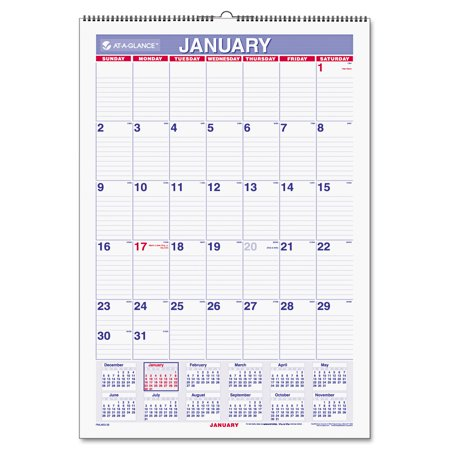 AT-A-GLANCE Erasable Wall Calendar, 15-1/2