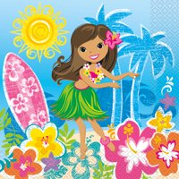 Luau Lunch Napkins (16 Count)