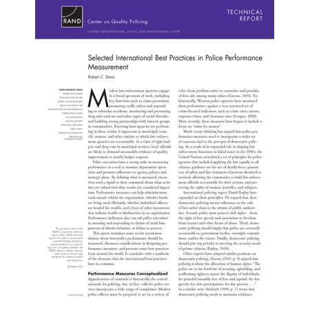 Selected International Best Practices in Police Performance Measurement -