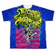 Jefferson Airplane Men's  White Rabbit Sublimation T-shirt White