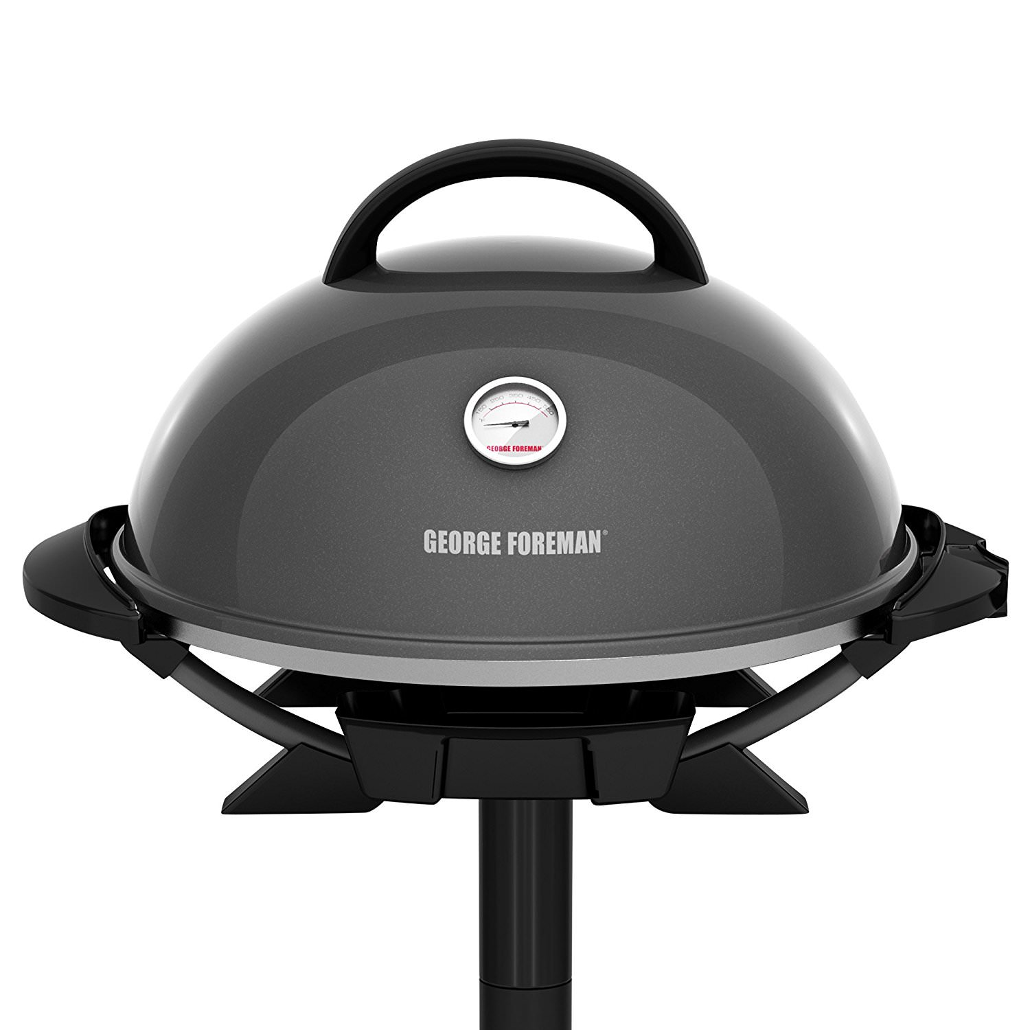 George Foreman PRO Indoor / Outdoor Grill , 240 Sq In, Ceramic Plates, Temp Gauge, GFO3320GM