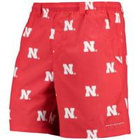 "Nebraska Cornhuskers Columbia PFG Backcast II 8"" Omni-Shade Hybrid Shorts - Scarlet"