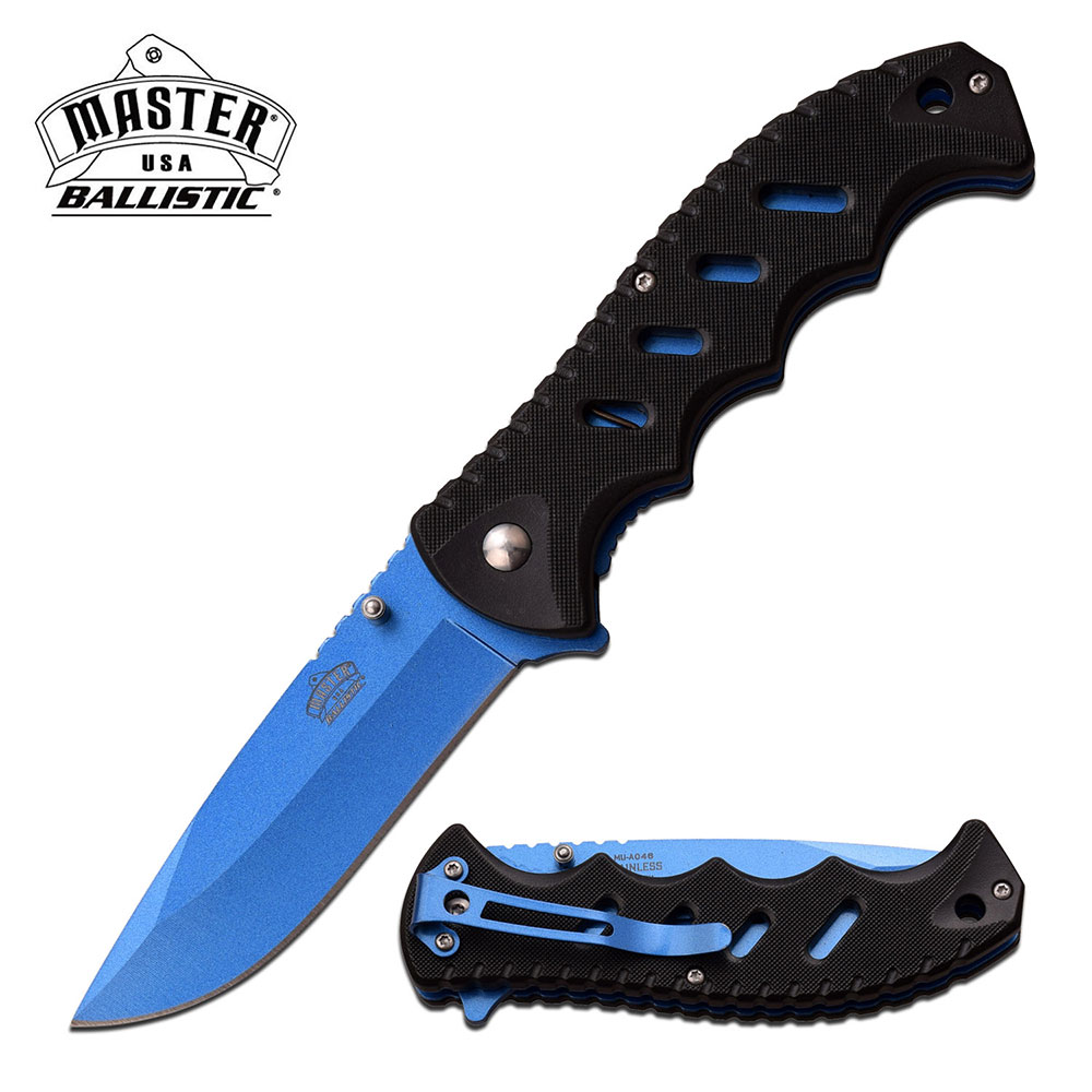 SPRING-ASSIST FOLDING POCKET KNIFE Black Blue Blade Classic Utility Worker EDC