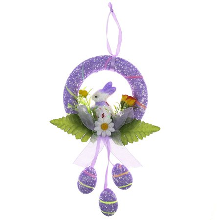 Fancyleo Easter Egg Crafts Easter Round Rabbit Hanging Ring ()