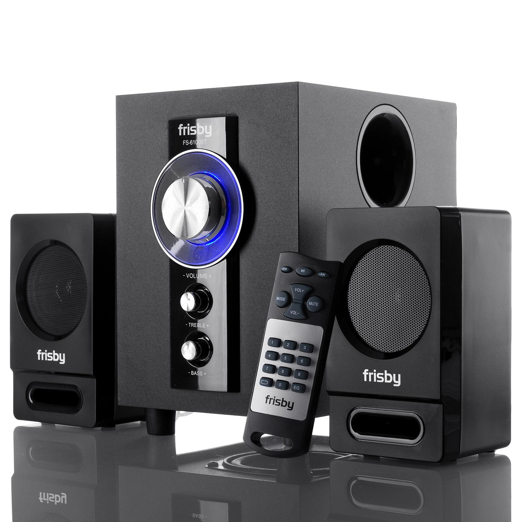 Frisby FS-6100BT Bluetooth Wireless 2.1 CH Media Subwoofer Speaker System w/ Remote...