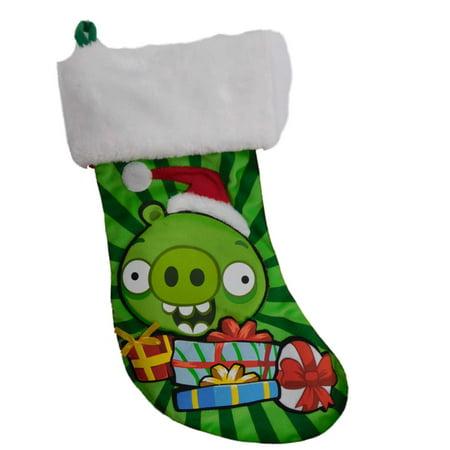 Green Angry Birds King Pig Christmas Stocking ()