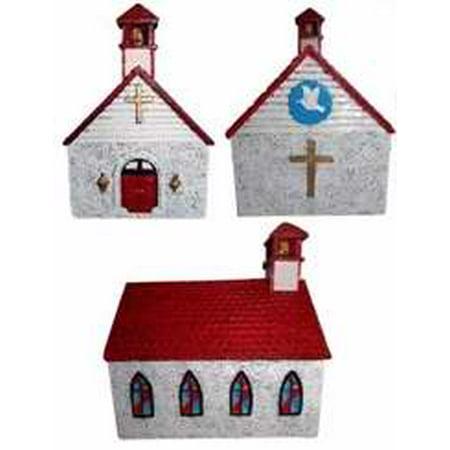 Sunday School-Heavy Church Bank Resin Boxed