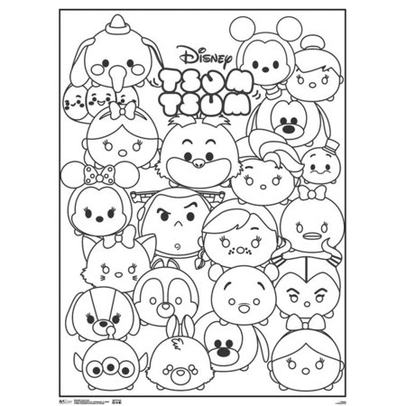 Disney Tsum Tsum Cute Characters Movie Coloring Poster