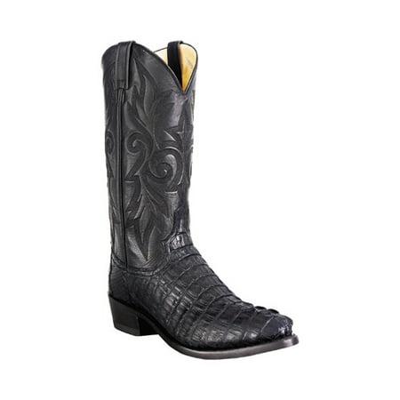 Cognac Caiman Tail - Men's Dan Post Boots Caiman Tail