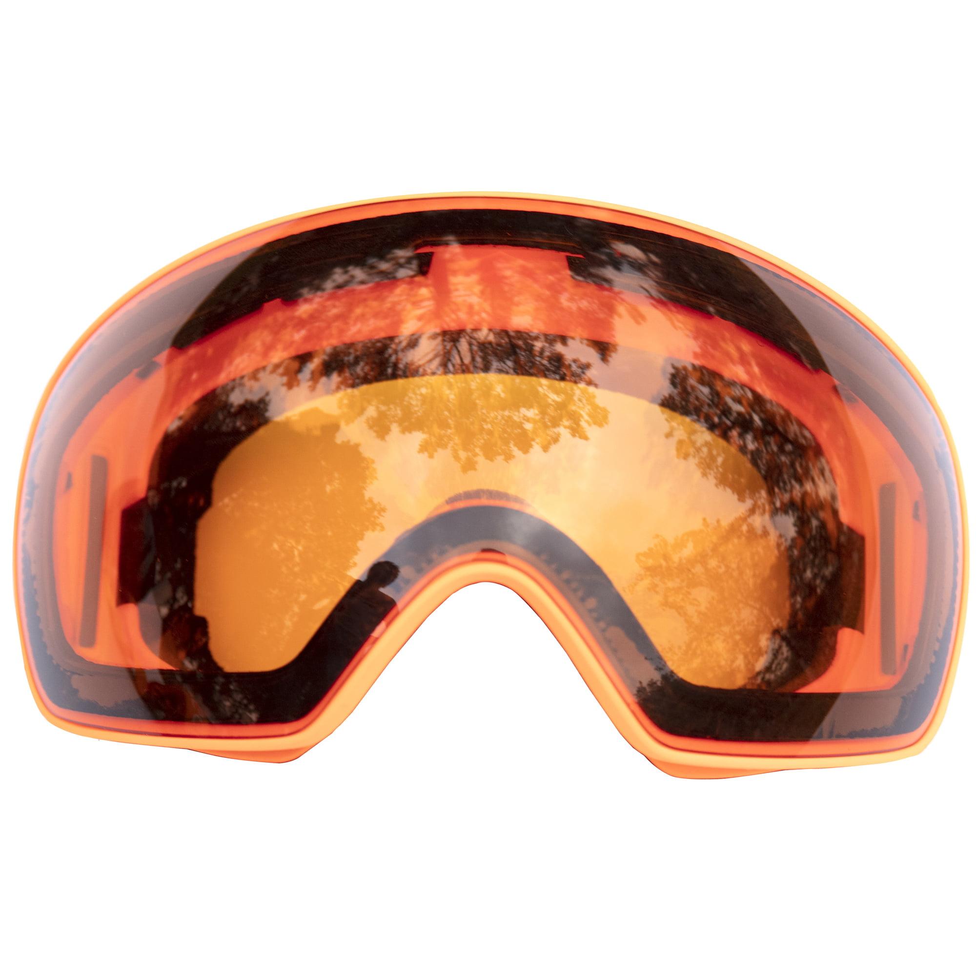C.F.GOGGLE Professional Ski, Snowboard, and Snowmobile Goggles, Winter Sports Goggle Ski Goggles Over Glasses with Glasses Box For Mens and Womens Red,Blue,Black