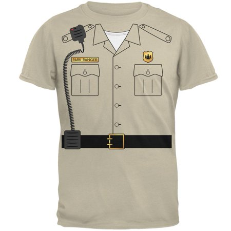 Halloween Forest Park Ranger Costume Mens T Shirt - Fort Fun Park Halloween