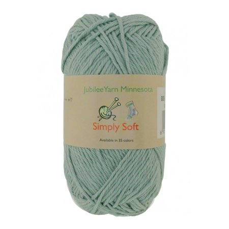 Peaches Plum - BambooMN Brand - Simply Soft Yarn 100g - 4 Skeins - 50% Cotton 50% Polyestser - Minty Green - Color 005
