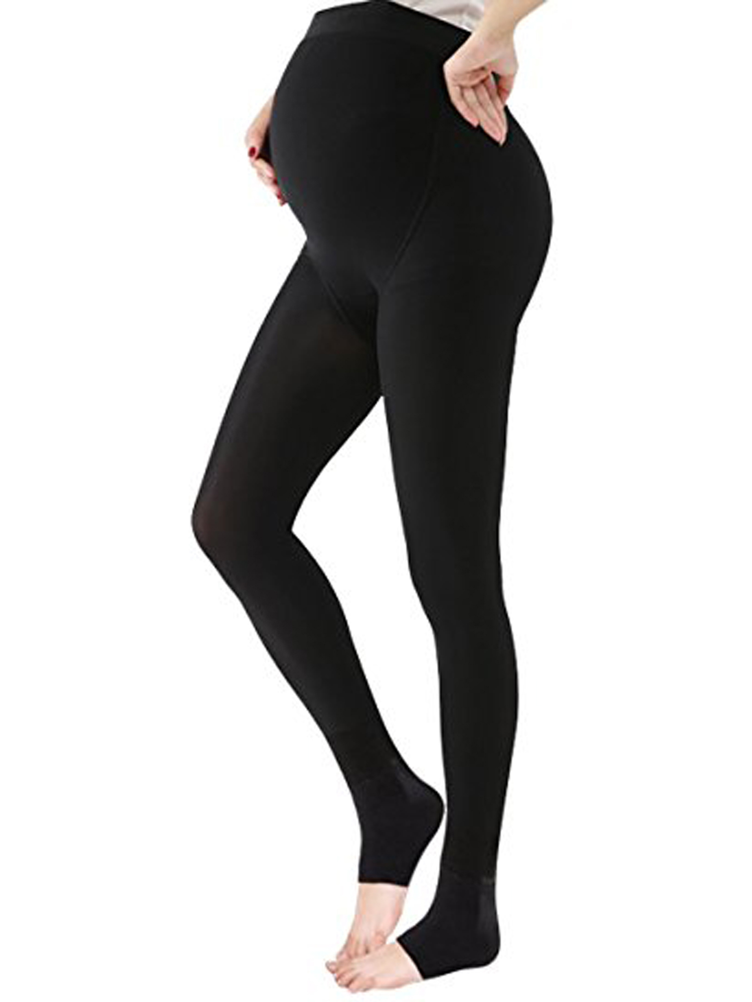 LELINTA Women's Maternity Pregnant Tights Warm Thick Pearl Cashmere Adjustable Support Stirrup Legging