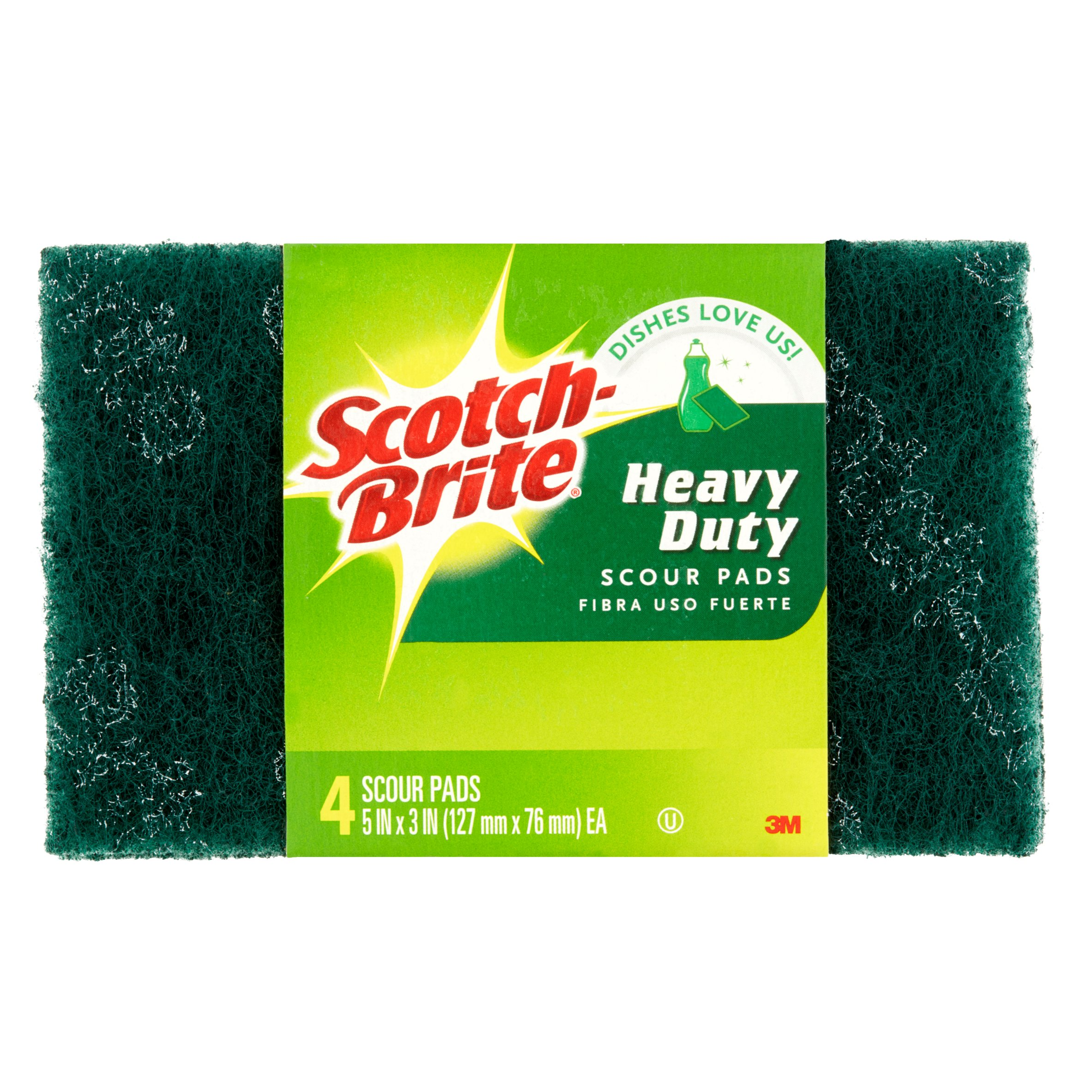 Scotch-Brite Heavy Duty Scour Pads, 4 count