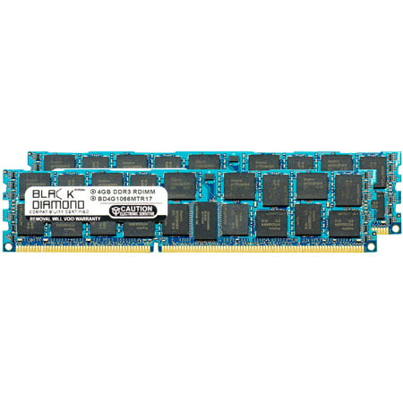 4GB 2X2GB Memory RAM for HP ProLiant Series DL385 G7 (ECC REgistered), DL120 G6, DL120 G6 Entry, DL120 G6 Performance, DL360 G7 Efficiency 240pin PC3-8500 1066MHz DDR3 RDIMM Black Diamond Memory Mod
