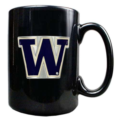 Washington Huskies 15oz Black Ceramic Mug