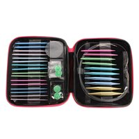 Meigar Circular Knitting Needle Set 2.75mm-10mm Aluminium Circular Crochet Knitting Needle Set Case Craft Set,Multi-colour