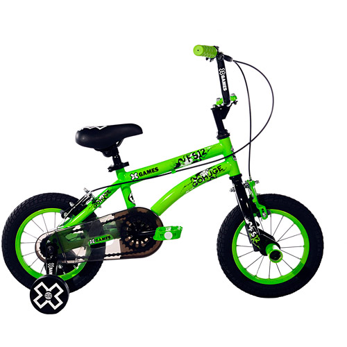 "12"" X-Games Boys' Bicycle, Green"