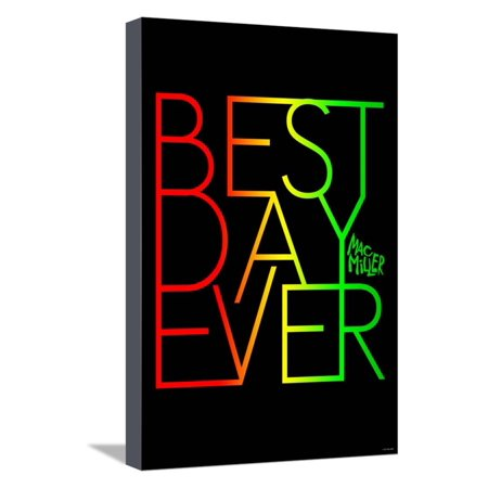 Mac Miller - Best Day Ever Stretched Canvas Print Wall