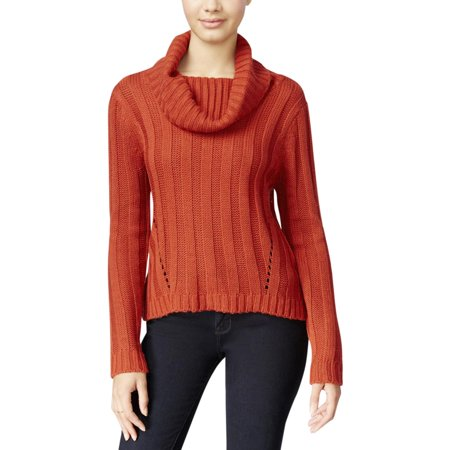 Hooked Up by IOT Womens Juniors Solid Ribbed Knit Pullover Sweater