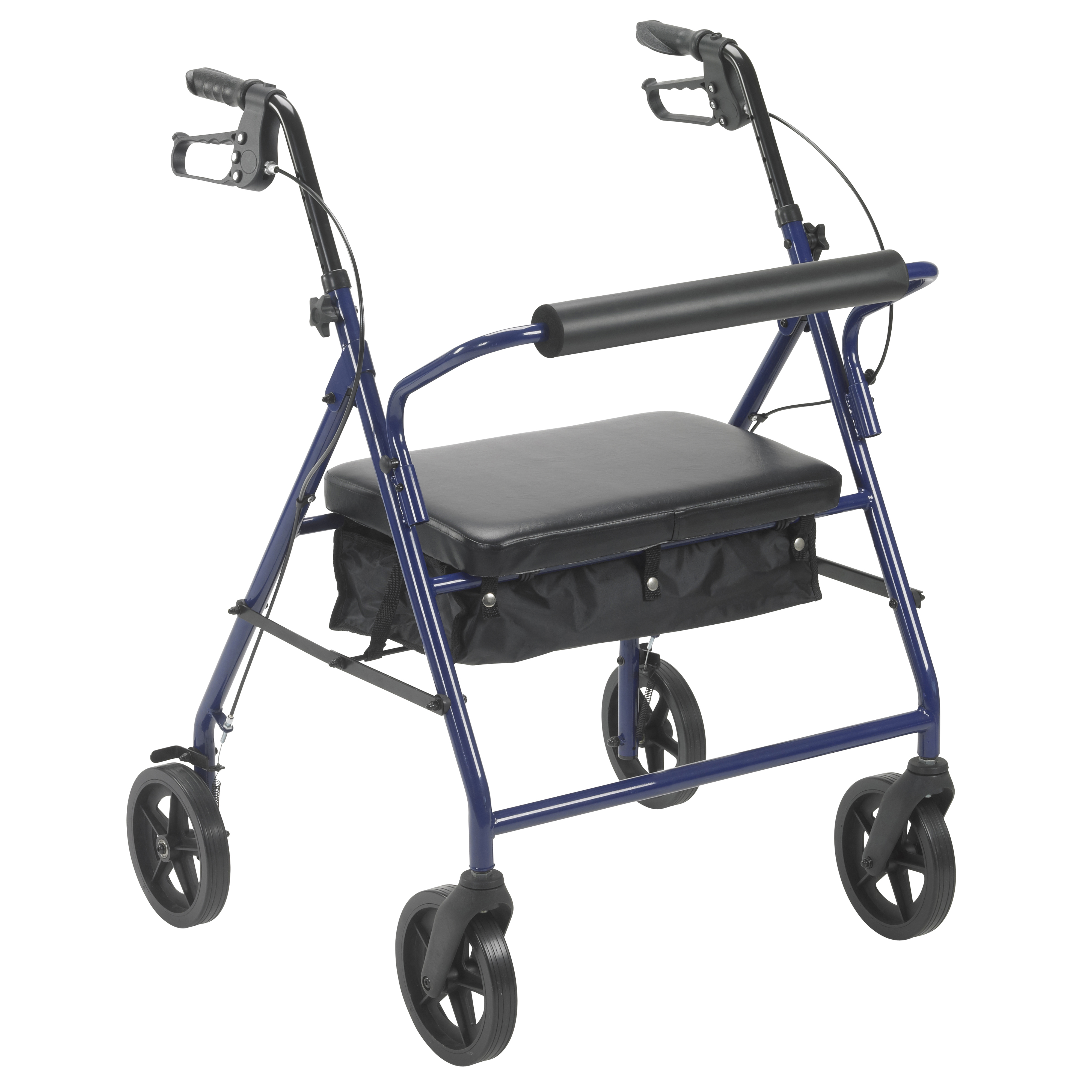 "Drive Medical Bariatric Rollator Rolling Walker with 8"" Wheels, Blue"