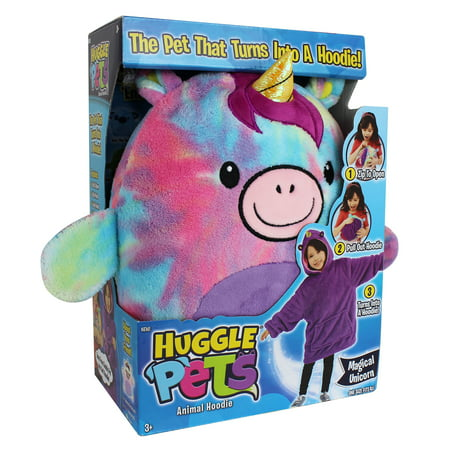 Huggle Pets Rainbow Unicorn Animal Hoodie Sweatshirt and Plush Toy, As Seen on TV