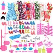 DZT19681Set Barbie Dress Up Clothes Lot Cheap Doll Accessories Handmade Clothing