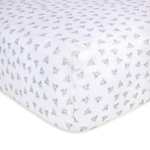 Soft Organic Cotton Newborn Gift Baby Toddler Safe /& Comfort Fitted Crib Sheet