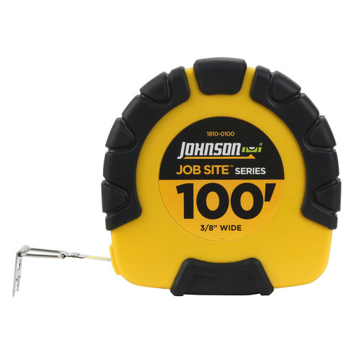 Johnson Level & Tool 1810-0100 Job Site Closed-Case Tape Measure, 3:1 Gear Drive, Steel/Molded Case, 3/8-In. x 100-Ft.