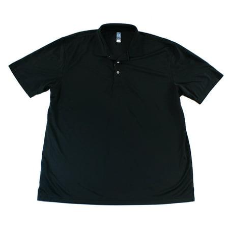 Pga Tour New Caviar Black Mens Size 2Xl Airflux Performance Polo Shirt  59