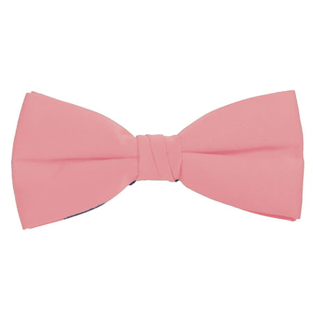 Solid Pink Bow Tie Men