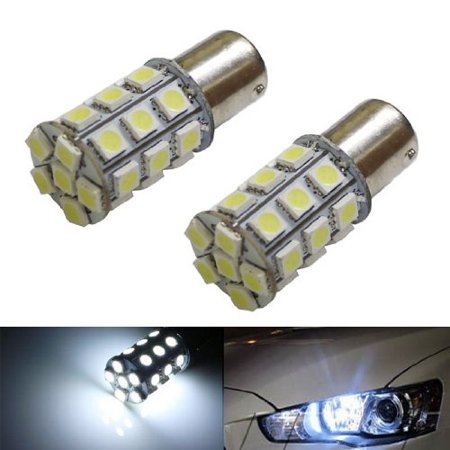 iJDMTOY HID Matching 27-SMD-5050 1156 S25 LED Daytime Running Light Replacement Bulbs For 2008-up Mitsubishi Lancer or Evolution X, Xenon