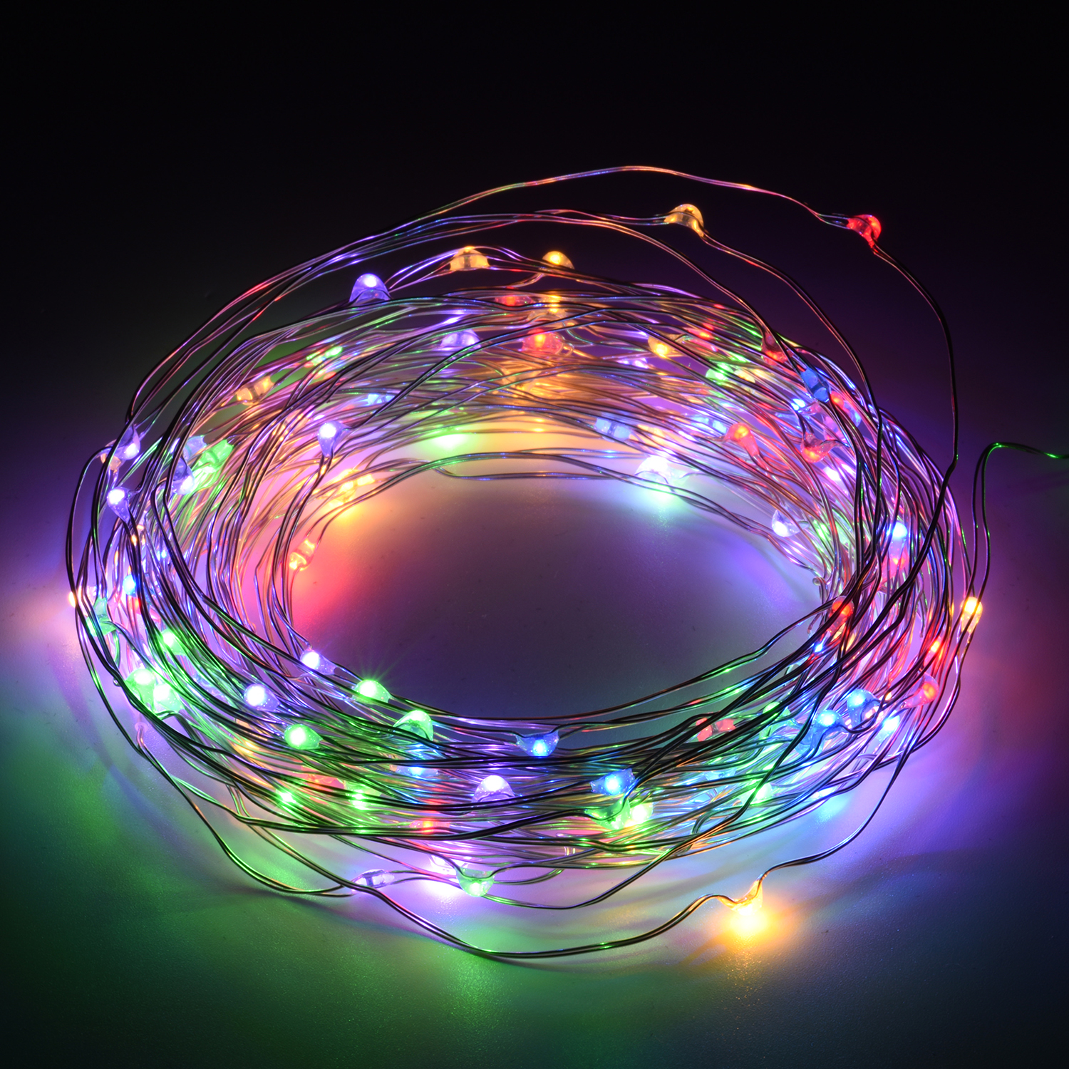 Oak Leaf 120 LEDs 39.2ft Copper Wire Waterproof Rope Lights LED Starry String Lights for Garden Home Patio with UL Certified 3.5v Power Adapter