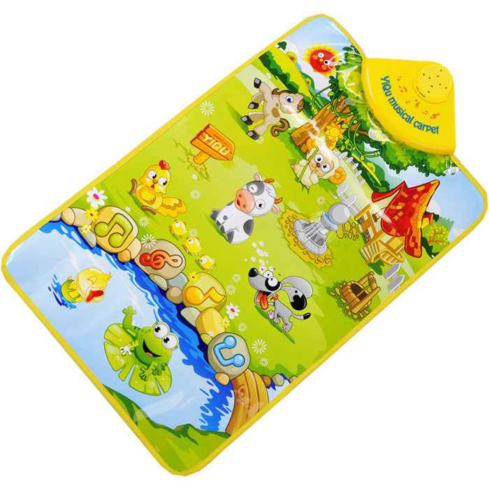 New amusing Farm Animal Musical Music Touch Play Singing Gym Carpet Mat Toy Gift