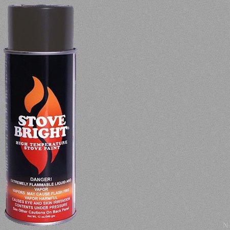 High Temp Paint - Pewter, This high temperature paint is perfect for wood stoves, fireplace inserts, radiators, engines, auto exhaust, barbecues, and.., By Stove (Best Place For Exhaust Repair)