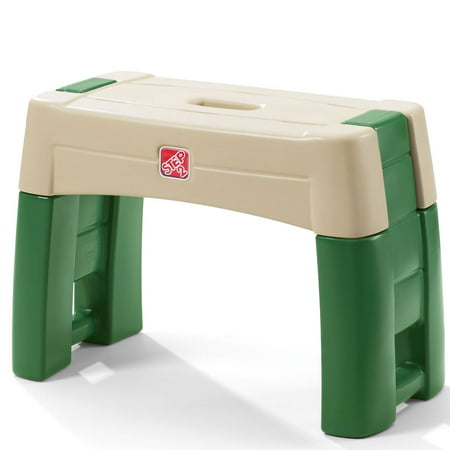 Step2 Pretend Play Kid Plastic Gardening Yard Work Stool Kneeler Seat, Green