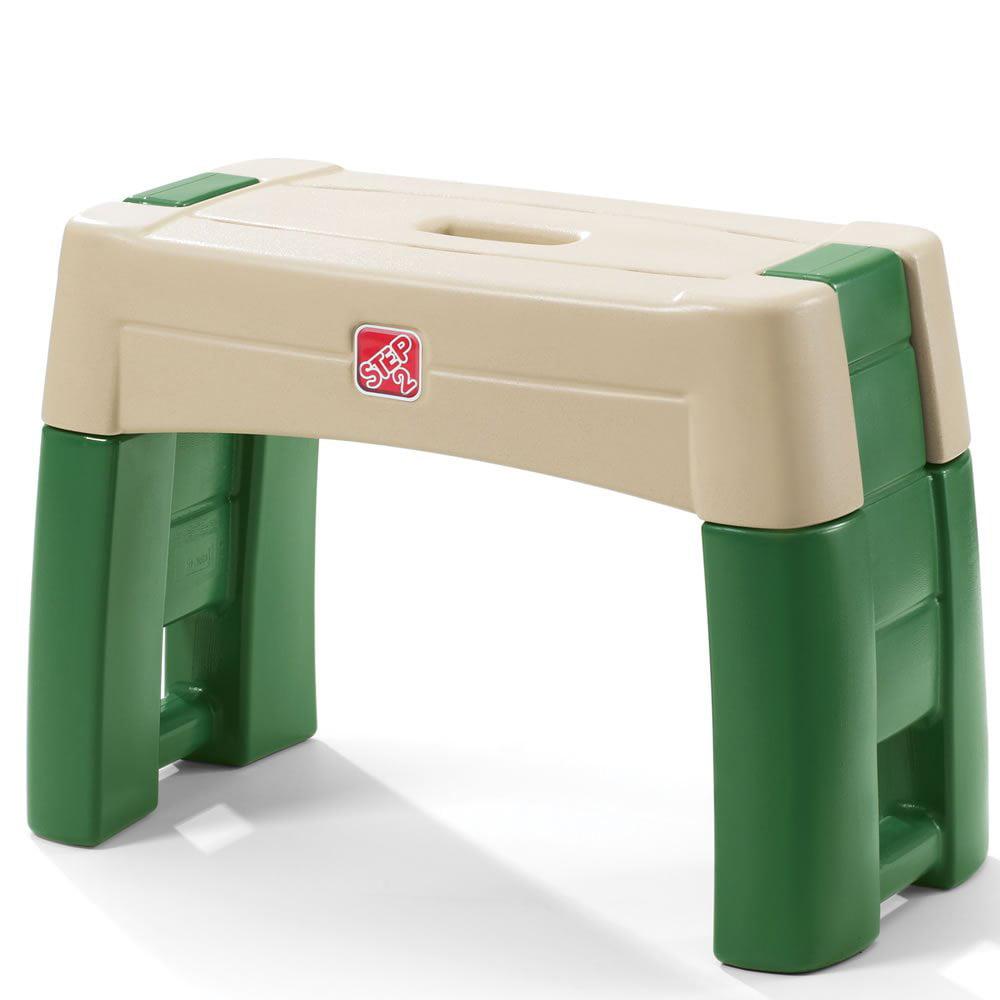 Step2 Pretend Play Kid Plastic Gardening Yard Work Stool Kneeler Seat, Green
