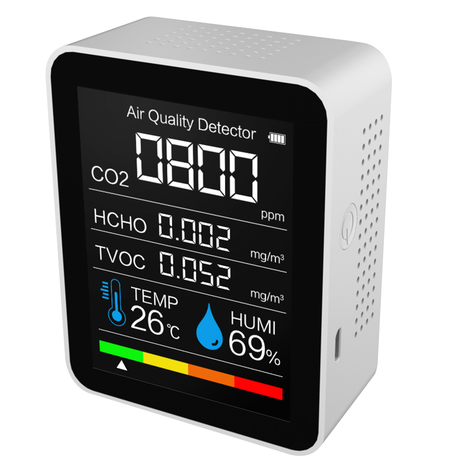 Details about  /Household C02 TVOC Detector Temperature Humidity Tester Air Quality Monitor